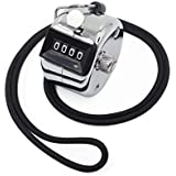 Amble Tally Clicker Counter, Metal Case Mechanical Clicker Digital Handheld Tally Counter with Nylon Lanyard