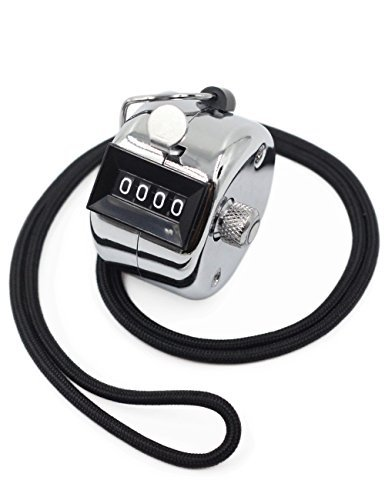 - Amble Tally Clicker Counter, Metal Case Mechanical Clicker Digital Handheld Tally Counter with Nylon Lanyard