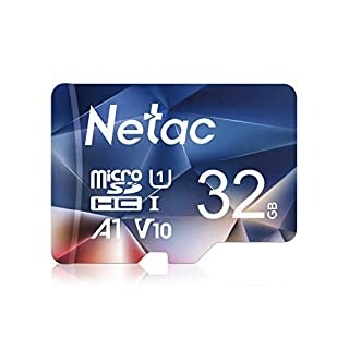 Netac 32GB Micro SD Card, microSDHC UHS-I Memory Card - 90MB/s, 600X, U1, C10, Full HD Video V10, A1, FAT32, High Speed Flash TF Card P500 for Smartphone/Bluetooth Speaker/Tablet/PC/Drone/Camera