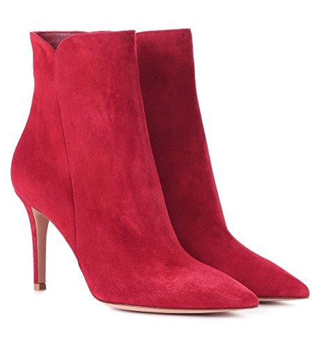 Alla a Tacco Tacco Con Donna da Soireelady Caviglia Stivali CM Suede 8 Donna Stivaletti Red spillo xXHqnzS