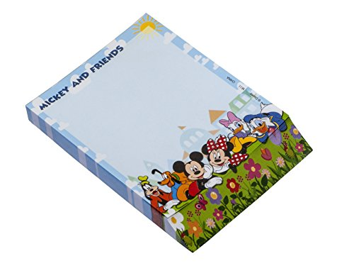 Disney Blue Mickey and Gang Deluxe Memo Pad -