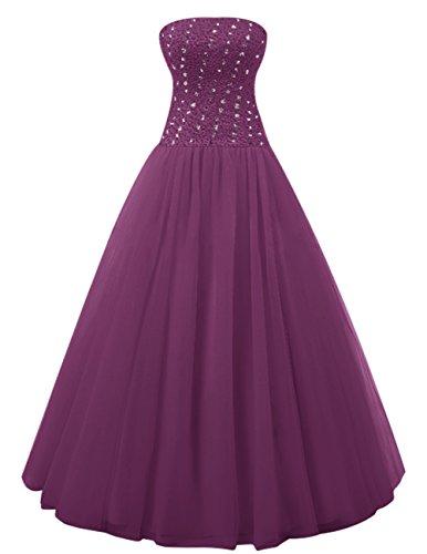 Dresstells®Vestido Largo Princesa de Tul con Lazo vestido de novia Uva