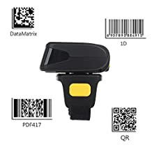 Chunnuan Portable Wearable Ring QR Bluetooth Wireless Barcode scanner 1D 2D mini bar code reader Support Scan PDF417 DataMatrix for IOS Android Windows