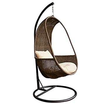 Mir Round Hanging Pod Chair With Cushions 82080809