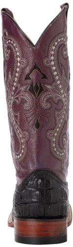 Womens Caiman Ferrini Purple Ferrini Womens Hornback Print Black Western Boot XwxqwnzH