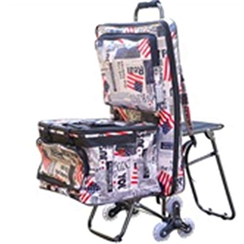 (GAIXIA-Shopping Trolley Trolley Painting Tool Cart Multi-Function Folding Art Outdoor Sketch Car Painting Trolley with Seat Easel Car Painting Material Stairs Mountain Bike (Color : 1))