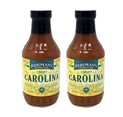 BURMAN'S BBQ Sauce Pit-Master Collection 4-19oz Southwest Flavors Gluten Free, Lactose Free, Gourmet Box Set (Carolina, 2 Pack) (Style Barbeque Sauce)