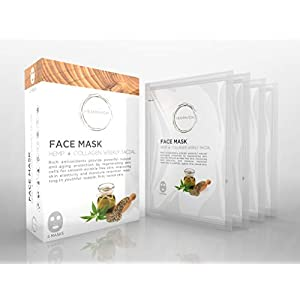 HEMPAVIDA Hemp and Collagen Face Mask – 4 Pack