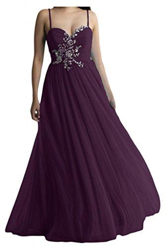 Dos-Traeger con estilo de novia de la Toscana de cristal vestidos de gasa por la noche fiesta de dama de honor vestidos Prom bola de largo Traube