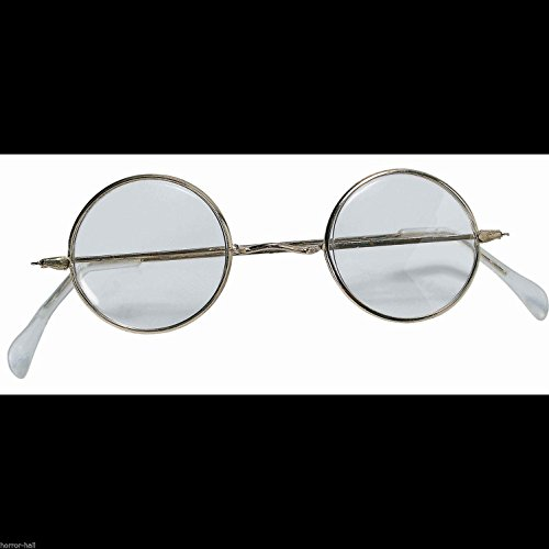 Cosplay Steampunk ROUND EYE GLASSES Wire Frame Granny Hippie Costume - Punk Eyeglasses