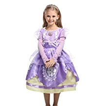 Girl's Dress Kids Ruffles Lace Party Custome Dress For Halloween