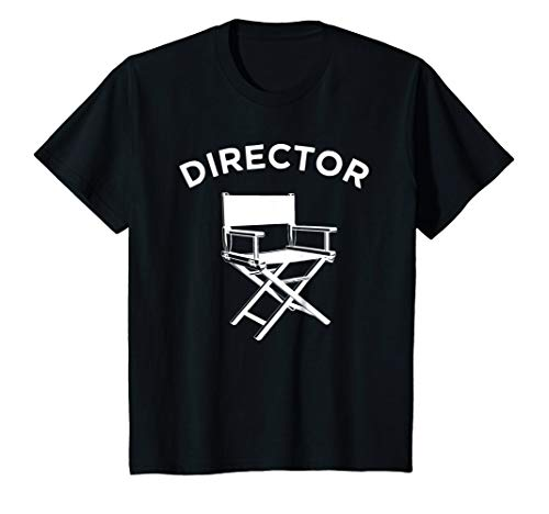 Youth Director Chair - Kids Movie Director T-Shirt, Filmmaker Director Chair Tee 12 Black