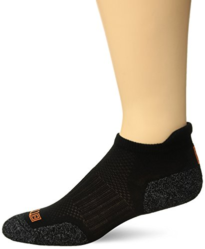 5.11 Tactical ABR Training Sock, Moisture-Wicking, Odor Control Copper Thread Compression Socks for Men Women Sport Crew, Style 10031, Black, Small