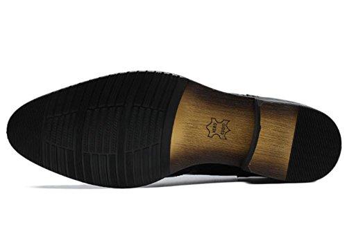 Hombres Oxford Cuero Zapatos Encajes Puntiagudo Dedo del pie Formal Boda Negocio Negro marrón Oficina Trabajo Fiesta Negro
