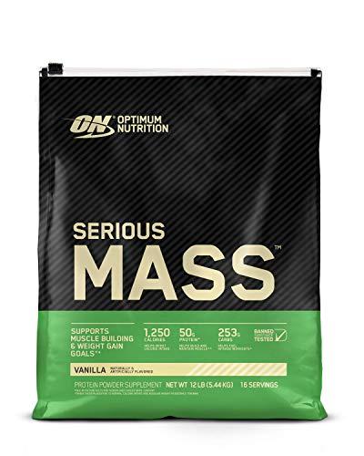 Optimum Nutrition Serious Mass, Vanilla 12 Lbs