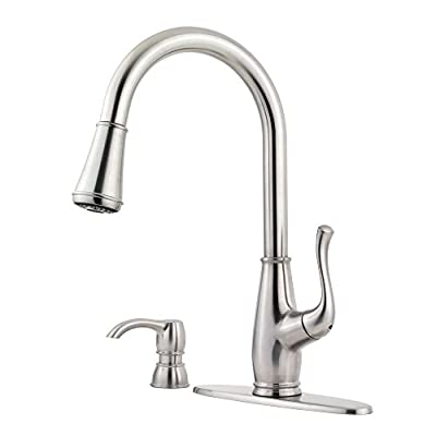 Pfister F5297SWS Sedgwick 1-Handle Pull-Down Kitchen Faucet with Soap Dispenser, Stainless Steel