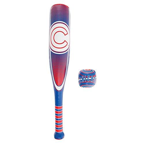 Franklin Sports Chicago Cubs Soft Sport Bat & Ball Set - Soft Vinyl Toy Baseball Bat and Ball Team Logo - MLB Official Licensed Product