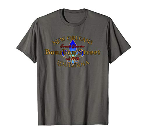 New Orleans Louisiana Bourbon Street French Quarter T Shirt