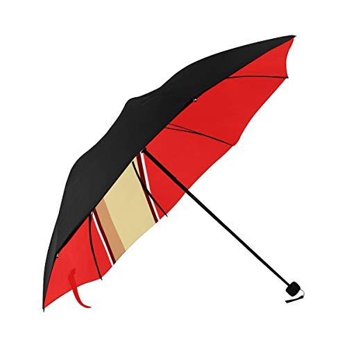 Umbrella Woman Hand Her Fist Raised Underside Printing Compact Travel Sun Umbrella Parasol Anti Uv Foldable Umbrellas With 95% Uv Protection For Women Men Lady Girl