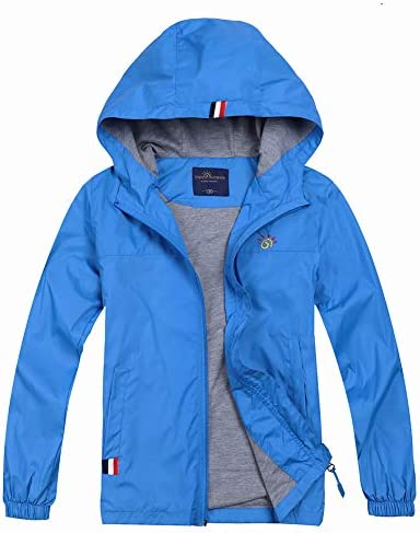 Jingle Bongala Boys Girls Outdoor Waterproof Rain Jacket Fleece Lined Raincoat
