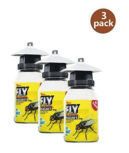 (Victor M380 Fly Magnet 1-Quart Reusable Trap With Bait (3 Pack) )