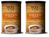 New Flavor - Pumpkin Spice Chai Latte - Pacific Chai 2-10 ounce Canisters, Instant, Powdered