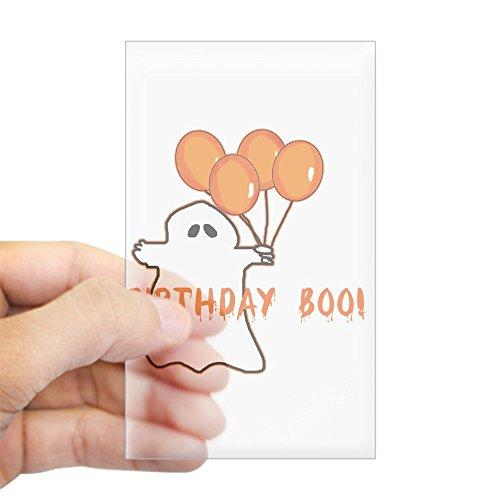 CafePress Halloween Birthday Boo Rectangle Sticker Rectangle Bumper Sticker Car -