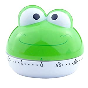 Cartoon Mini Kitchen Cooking Mechanical Timer 55 Minutes (Frog)