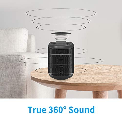 [Upgraded] Bluetooth Speakers,MusiBaby Bluetooth Speaker 5.0,Outdoor,Waterproof,Wireless Speaker,Dual Pairing,Loud Stereo Sound,Booming Bass,25h Playtime for Camping,Beach,Pool,Shower(Black) 412Imios89L
