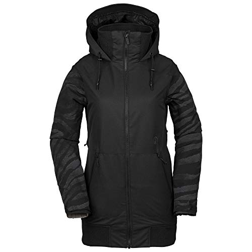 Volcom Women's Meadow Insulated Snow Jacket, Black, Large