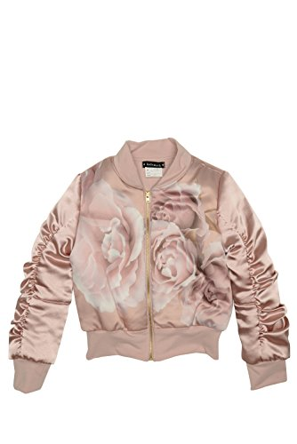 (Kate Mack Girl's 2-6X Heart of Gold Bomber Jacket, Cocoa - Size)