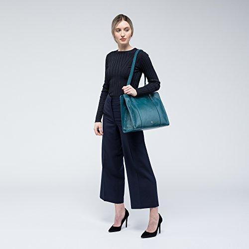 Piel De Trabajo Color Tipo Italiana Elegante Para Mujer Maxwell Scott® Turquesa rivara En Tote Bolso vtqIgfxw