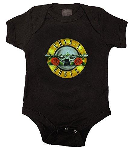 Guns N Roses Baby Boys' Bullet Logo Bodysuit, Black, 24 Months - Guns N Roses Bodysuit