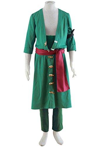 Zoro Cosplay Costume (Mtxc Men's One Piece Cosplay Costume Roronoa Zoro 2nd Size Medium Green)