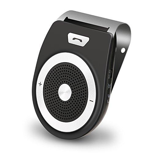 Bluetooth Car Kit HandsFree, PullPritt 4.1 Sun Visor Car Speakerphone Handsfree With Car Motion AUTO-ON for iPhone 8/Plus Samsung Support from PullPritt