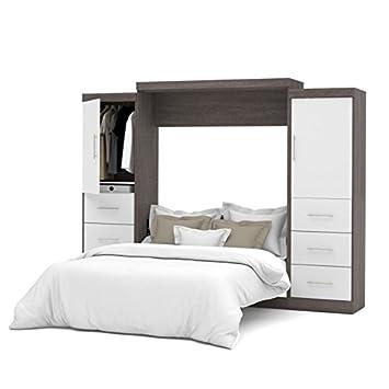 queen wall bed kit bark gray white murphy uk frame canada ikea