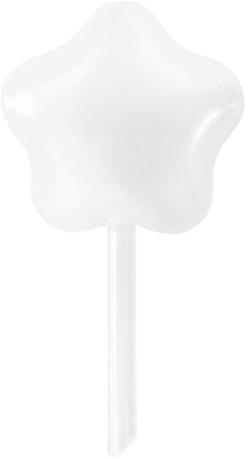 Strawberry Pipettes, BOROLA Liquor Injectors Plastic Pipettes Squeeze Dropper Disposable 4ml Mini Flavor Injector for Chocolate Strawberries Ice Cream Mini Cakes (50 Pcs, Star Shape)