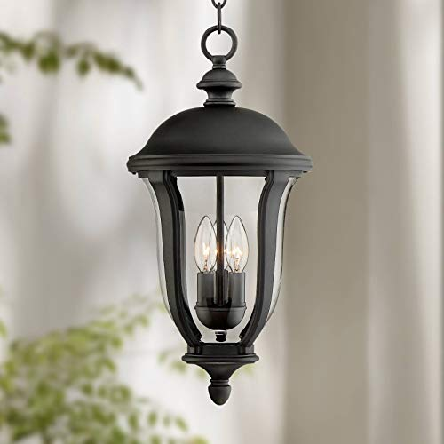 Park Sienna Traditional Outdoor Ceiling Light Hanging Black 20