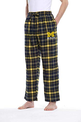 Concept Sport Michigan Wolverines Adult NCAA Team Pride Flannel Lounge Pants - Team Color, Medium