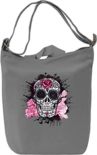 Splashing Skull Borsa Giornaliera Canvas Canvas Day Bag| 100% Premium Cotton Canvas| DTG Printing|