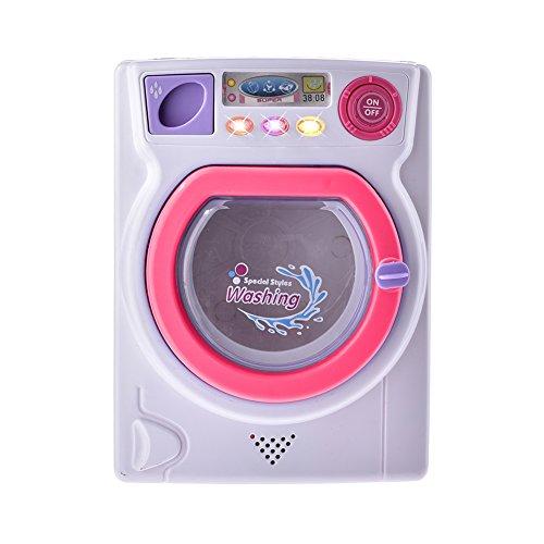 Leiyini Washing Machine Toy Baby Home Miniature Laundry Playset Mini Pretend Play Toy for Children ()
