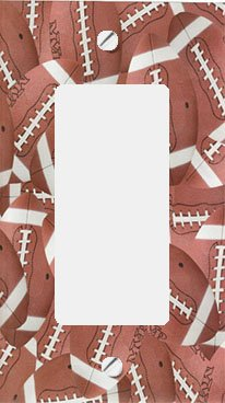 Football Switchplate Cover (Footballs GFI Rocker Decorative Switchplate Cover)