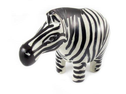 Maisha Fair Trade Hand Carved Decorative Soapstone Zebra