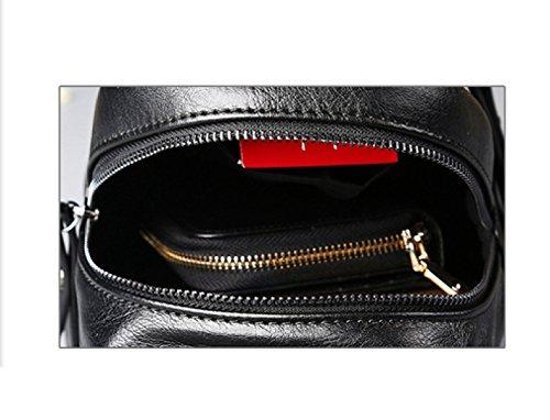 Men's Messenger Casual Bag Shoulder Chest Package Black Business Laidaye vZfwq1w