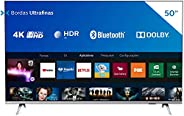 """Smart TV 50"""" 4K PHILIPS 50PUG6654/78, UHD, HDR10+, Dolby Vision, Dolby Atmos, Bluetooth, WiFi, 3 HDMI,"""