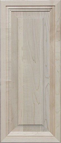 Unfinished Maple, Mitered Raised Panel Cabinet Door by Kendor, 28H x 12W