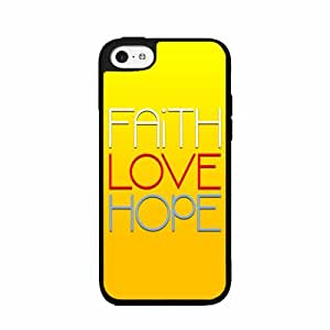 Faith Love Hope- TPU RUBBER SILICONE Phone Case Back Cover iPhone 5c