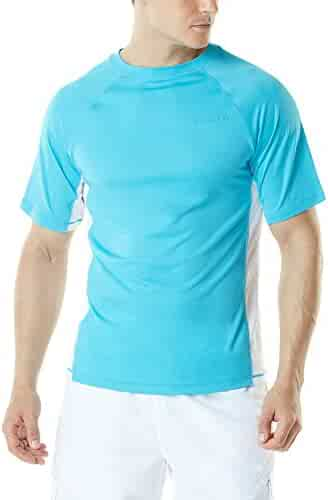 Tesla Men's UPF 50+Swim Wear Swim Tee Rashguard Top MSS01/MSR15