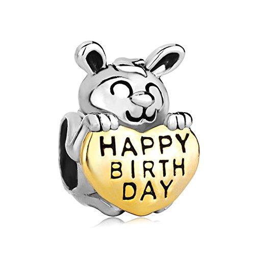 CharmsStory Birthdays Rabbit Silver Bracelets
