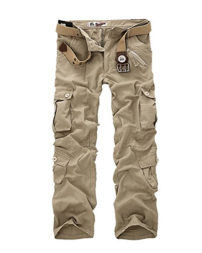 Kaki Avec Militaire Multipoche Travail Homme Clair Pantalon De Pantalons Cargo Gladiolus Style w1Tfaqxv